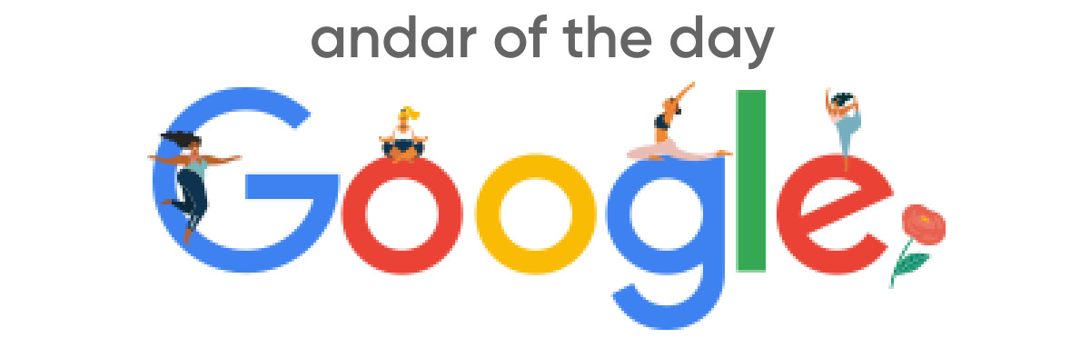 andar of the day - google
